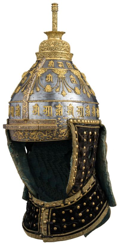 Ceremonial Helmet 18th century - LC-36_25_5a-018 WIT KLEIN